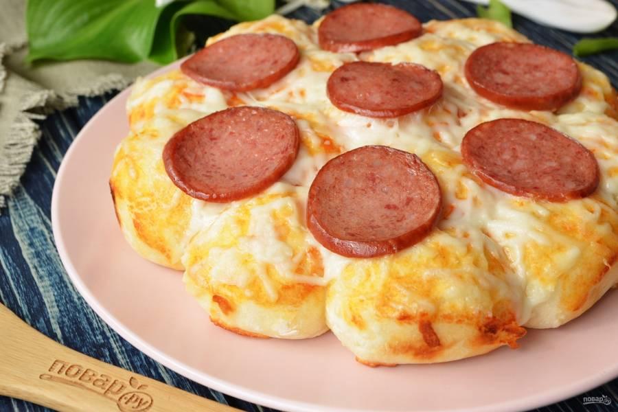Пицца на шариках из теста