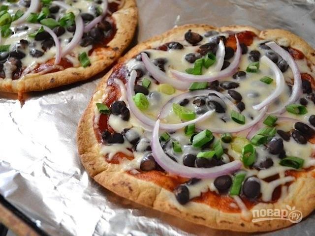 Мини-пицца из тортильи