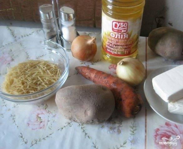 1. Минимум простых ингредиентов — и на вашем столе появится замечательное и сытное первое блюдо. Такой суп готовится менее, чем за час, отлично смакует и не требует особых кулинарных навыков. Более того: его очень любят даже дети.
