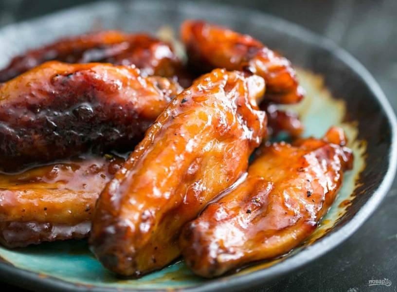 Куриные крылья в маринаде