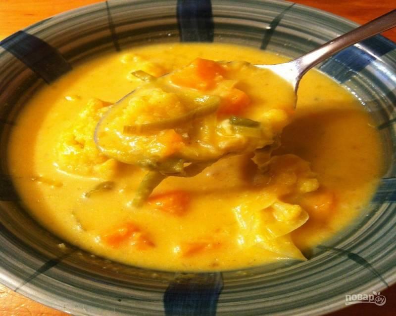 Суп из цветной капусты с рисом