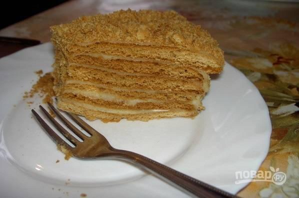 Медовый торт на водяной бане