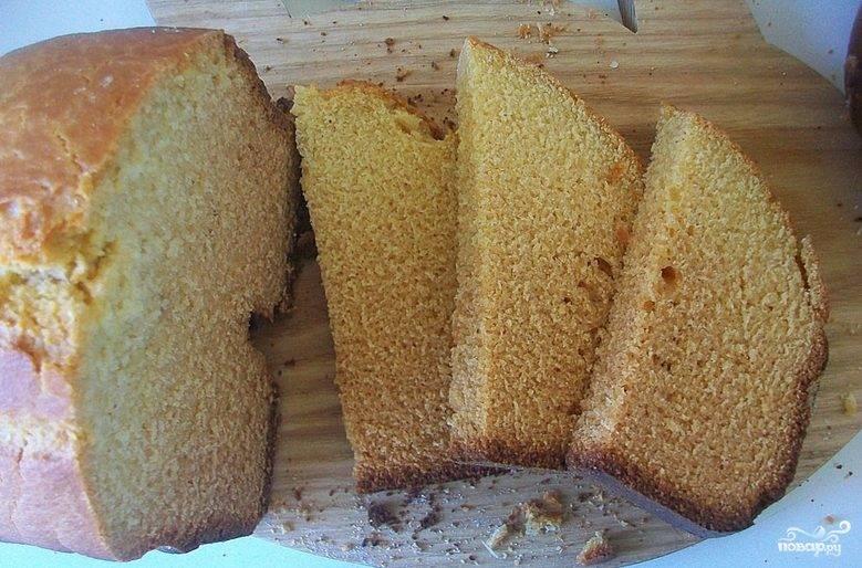 Кукурузный хлеб без дрожжей
