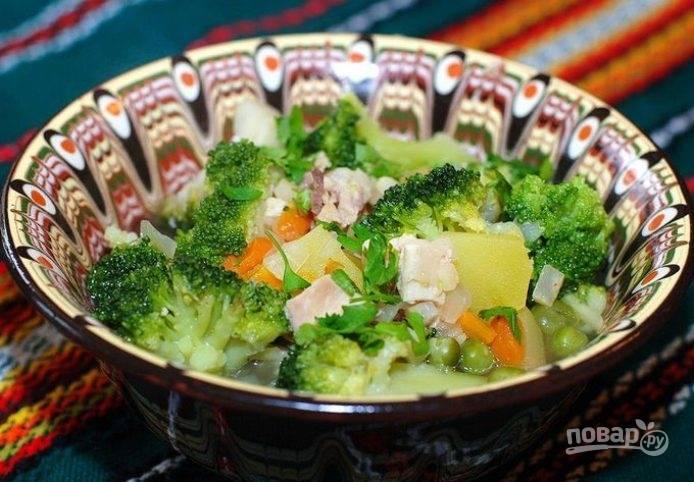 Суп с капустой брокколи
