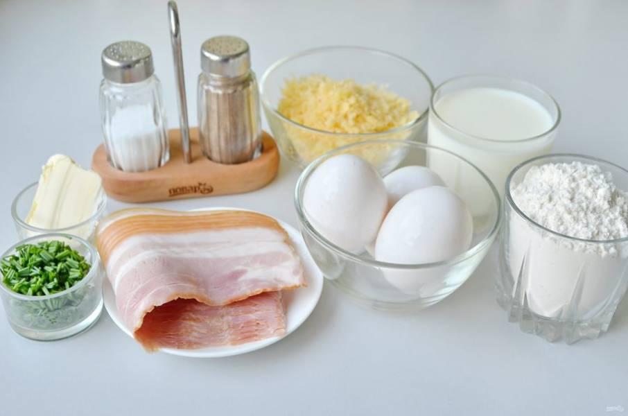 1. Подготовьте продукты согласно рецепту, все отмерьте электронными весами, мерками. Приступим!