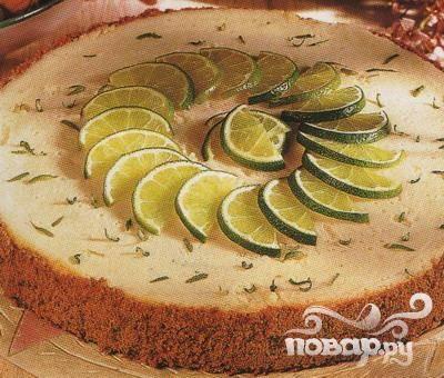 Пирог с сиропом из лайма