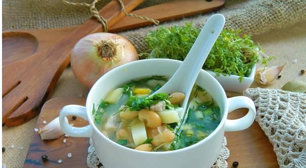 4. И когда картошка и курица уже будут готовы, - вот такой суп у нас получается! Приятного аппетита!