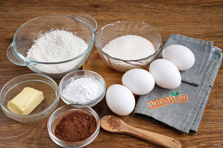 Подготовьте ингредиенты для теста.