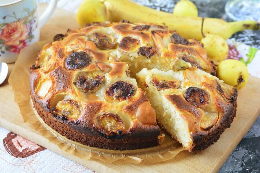 Бананово-грушевый пирог