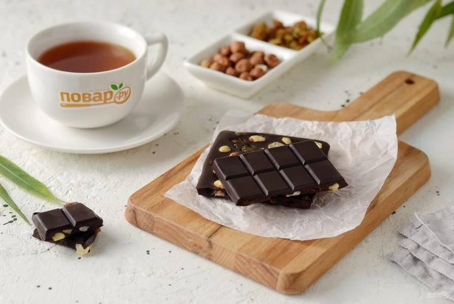 Домашний горький шоколад готов, приятного аппетита!