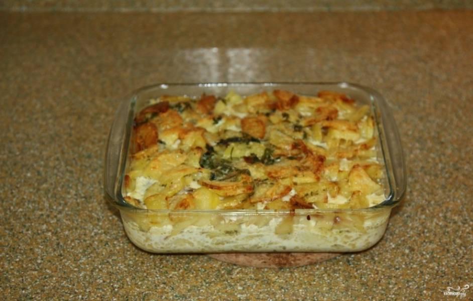 10. Вот так блюдо выглядит в готовом виде. Подавать конгрио в духовке лучше горячим.
