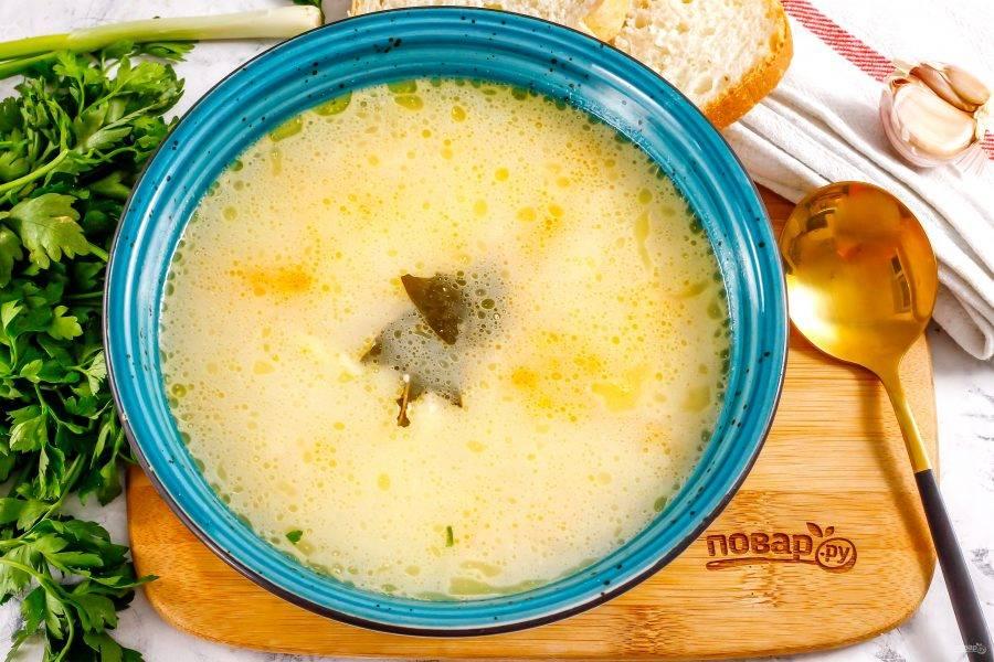 Разлейте первое в глубокие тарелки, подайте к столу с сухариками, майонезом или сметаной любой жирности.