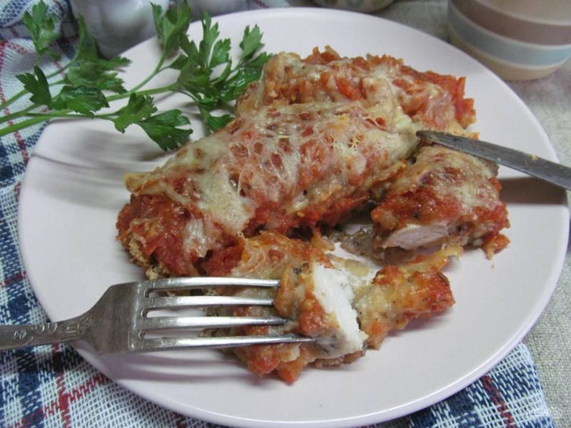 Куриные грудки по-итальянски