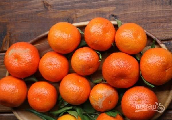 1. Сам процесс на самом деле довольно прост. Вымойте и обсушите мандаринки.