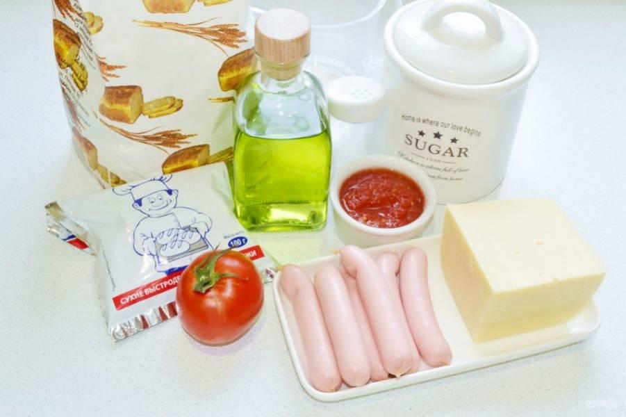 Вот такие ингредиенты мы будем использовать для приготовления пиццы.