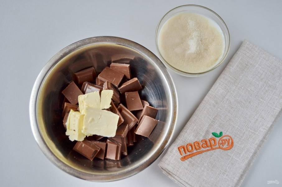 21. Для второго слоя процесс аналогичный: желатин растворите в молоке, добавьте ликер. Растопленный молочный шоколад со сливочным маслом.