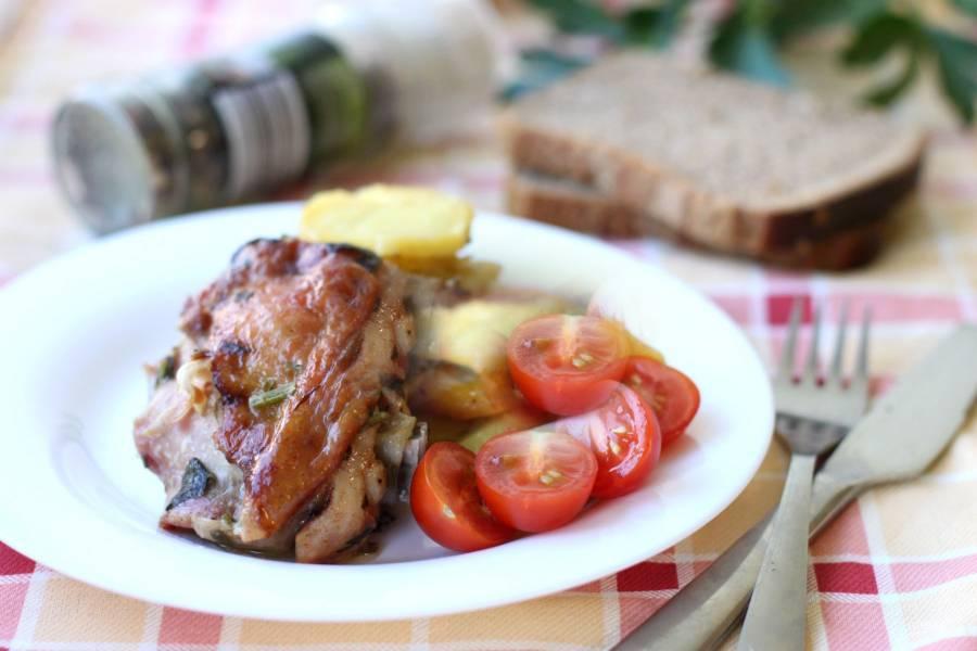 Вкусная картошка с мясом в мультиварке