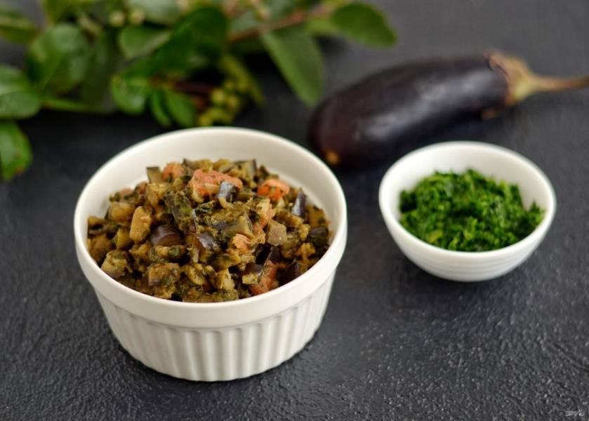 Баклажаны со шпинатом готовы, приятного аппетита!