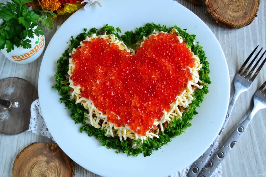 салат в виде сердца рецепт с фото участница