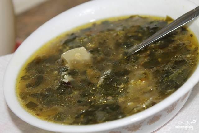 Щавелевый суп вегетарианский