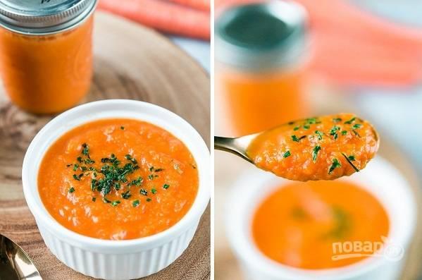 Морковный суп-пюре в мультиварке