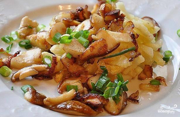 Подосиновики, жареные с картошкой