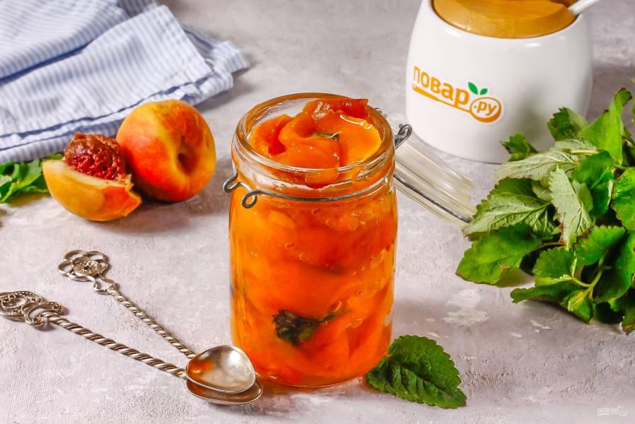 Варенье из персиков с мятой