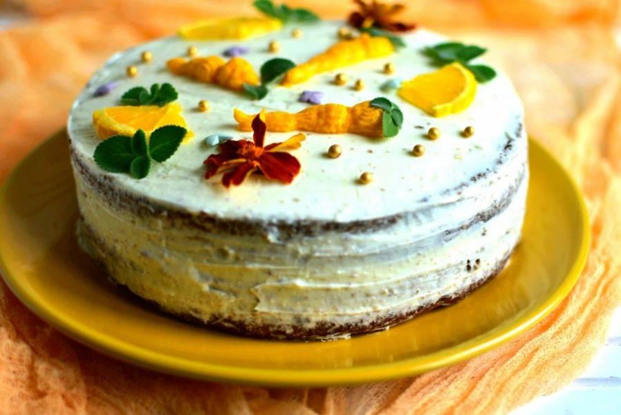 Подавайте охлажденным, так торт особенно вкусен.