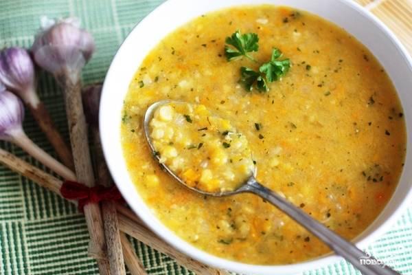 Гороховый суп с чесноком Быстро