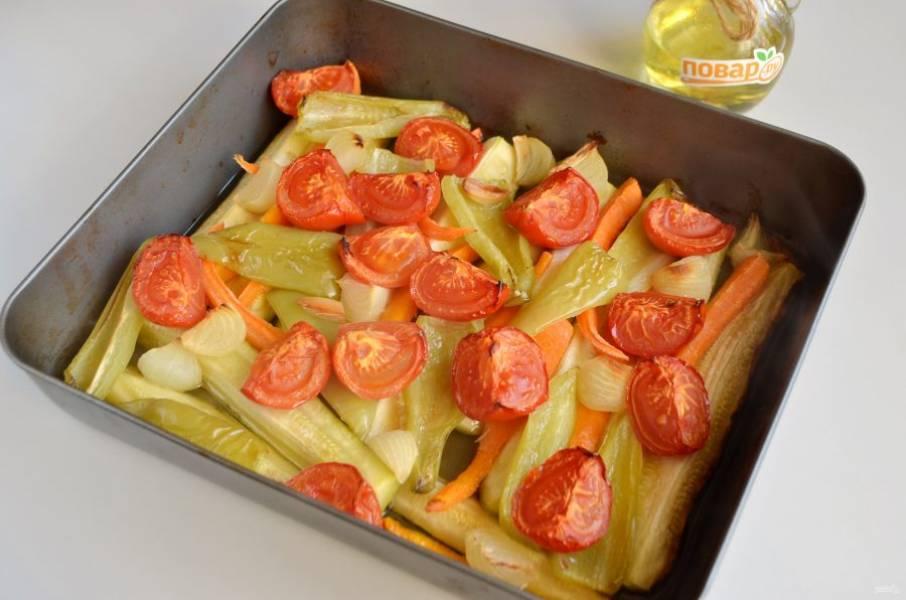 4. Овощи готовы. Если где-то что-то пригорело, то обрежьте, чтобы черные кусочки не попали в икру.