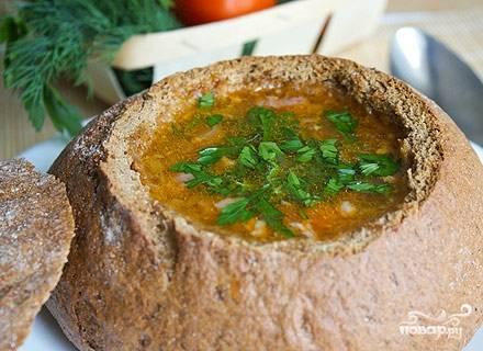 Ирландский суп в хлебе