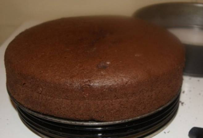 Разъемную форму для выпечки смазываем маслом. Вливаем в форму тесто и выпекаем бисквит 35-40 минут, температура 180 градусов. Готовность проверяем зубочисткой, если тесто не прилипает - бисквит готов! Приятного аппетита!