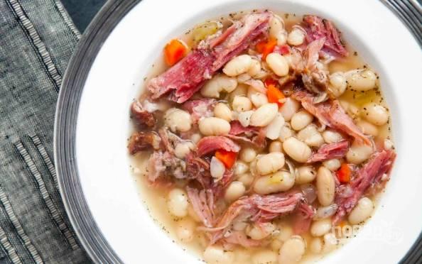 Суп из консервированной белой фасоли