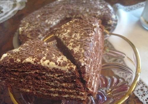 """5. Отправить тортик в холодильник минимум на 2-3 часа (лучше на ночь). Вот и весь рецепт торта """"Капучино"""" с фото. Нарезать порционными кусочками и подавать к столу."""