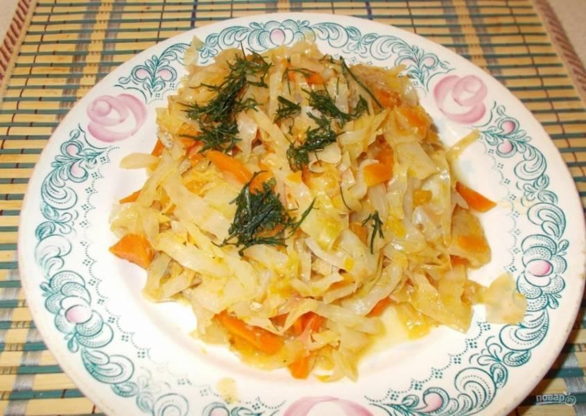 8.Готовое блюдо подаю к столу горячим и посыпаю зеленью, приятного аппетита!