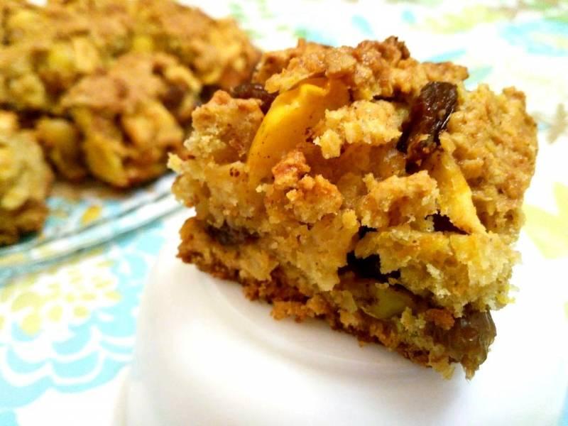 Яблочный пирог из овсяного теста