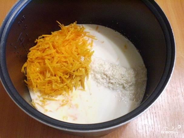 Рис переберите и промойте.