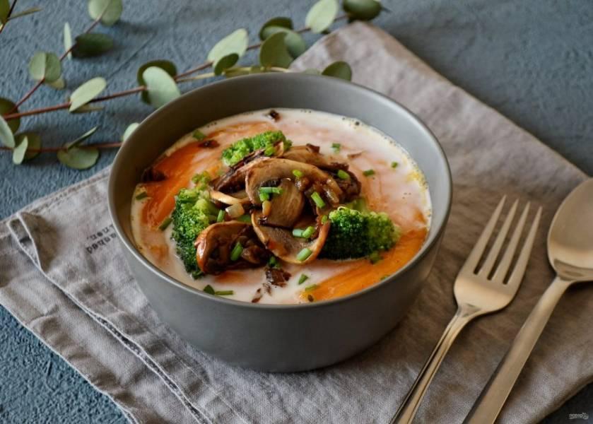 Суп-пюре из батата готов, приятного аппетита!