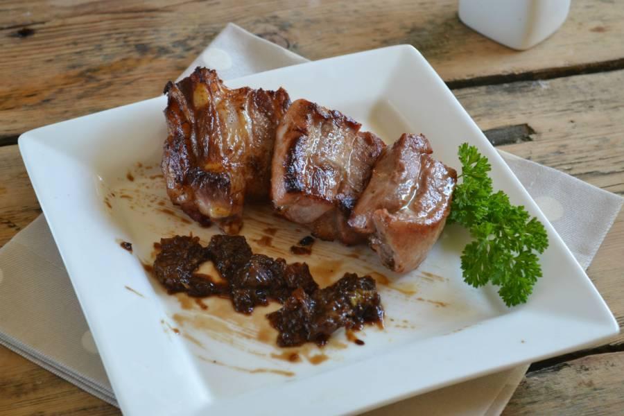 Мясо под сладким соусом