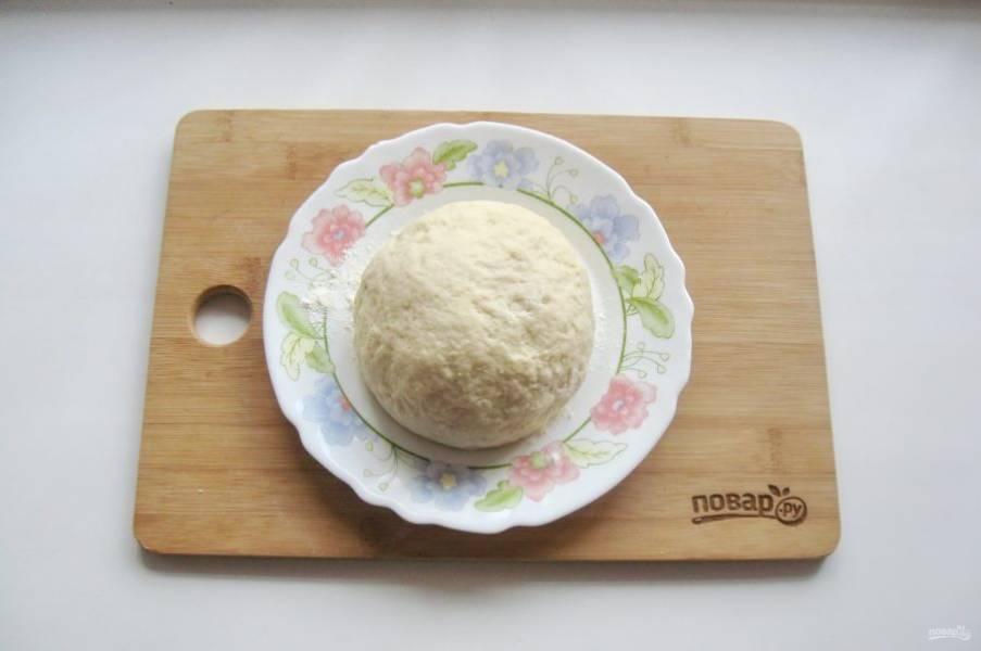 Выложите на поверхность, присыпанную мукой и заметите мягкое, эластичное тесто, которое будет немного липнуть к рукам.