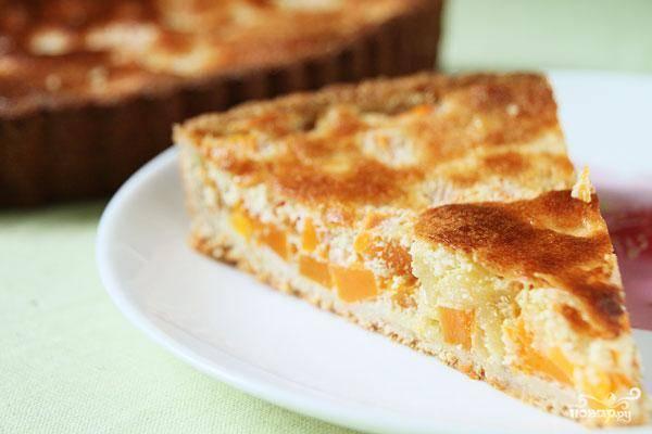 Тыквенно-творожный пирог