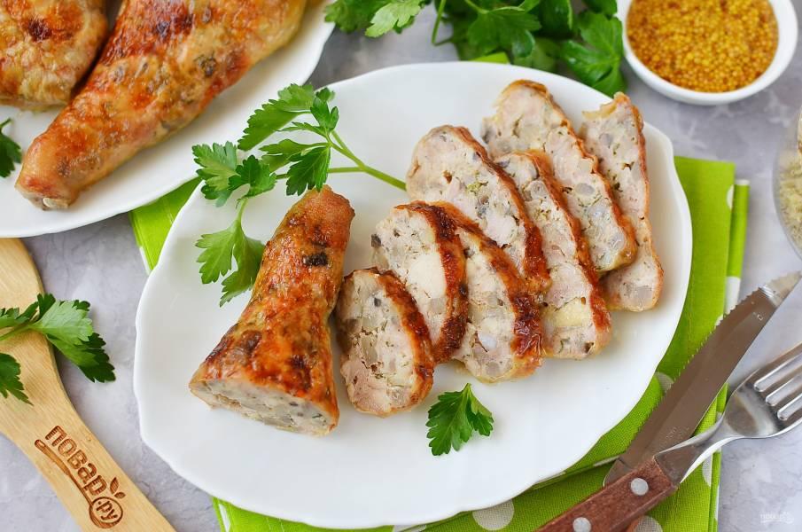 Фаршированные ножки курицы в духовке