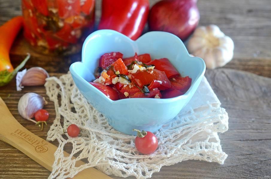 Острый салат из сладкого перца на зиму