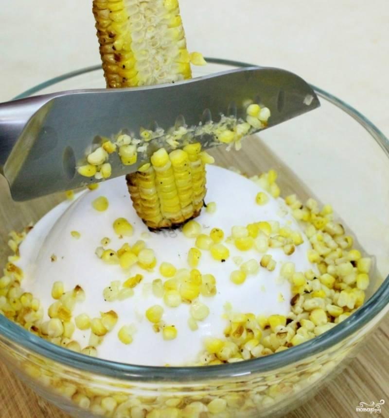 Снимите готовые кукурузы, так, как это показано на фото.