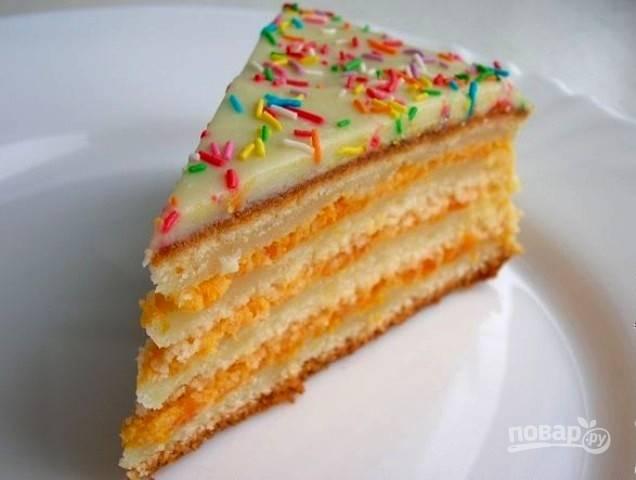 Торт на йогурте