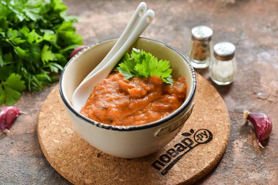 Соус для шашлыка из помидоров и баклажанов