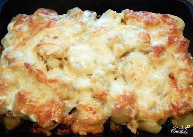 Запеканка картофельная с сушеными грибами