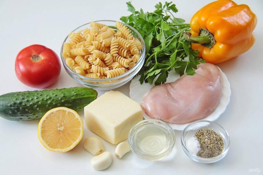 1. Подготовьте все необходимые ингредиенты. В данном рецепте я готовлю куриную грудку, но подойдет и любая другая часть курицы.