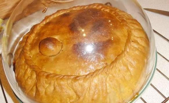Готовый балиш с курицей и картошкой смазываем топленным маслом, даем ему под крышкой постоять, пропитаться бульоном. Подаем с ложками, чтобы было удобно кушать. Приятного аппетита!