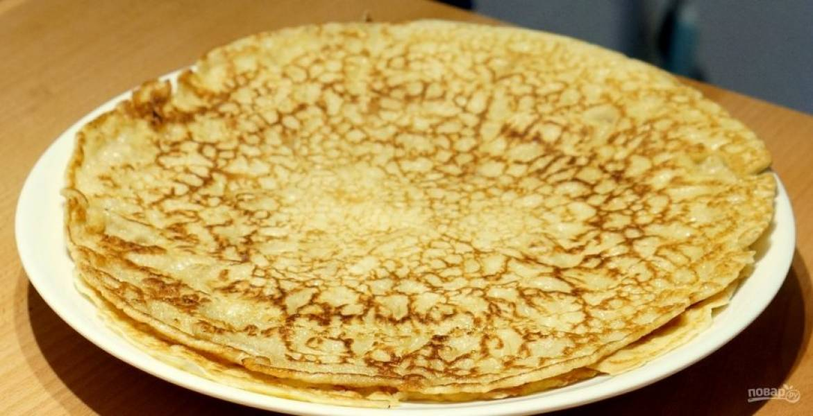8.Переложите блинчики на тарелку и подавайте к столу. Приятного аппетита!